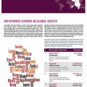300 Women Leaders in Global Health - photo