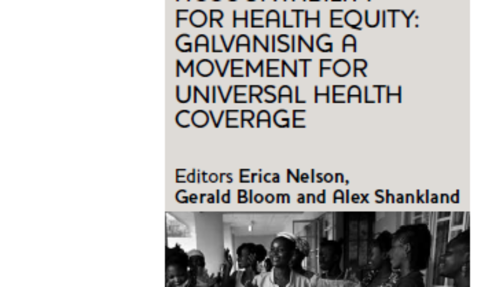 Cover of the paper on accountability in health systems and gender equity