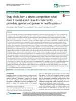Cover of the paper on photos and community health systems